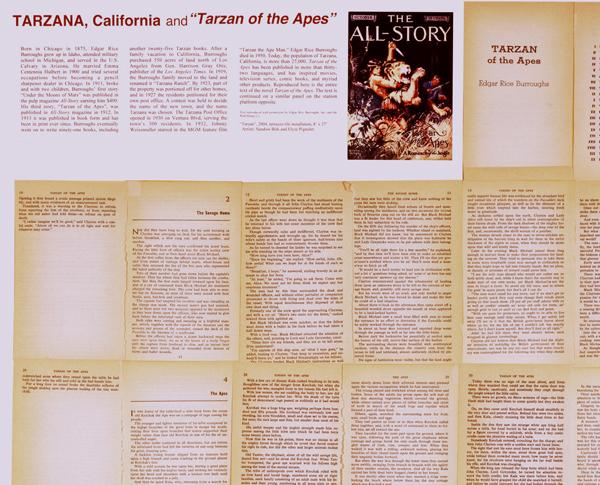 "Sandow Birk, ""Tarzan and Tarzana"" (ephemera for study)"